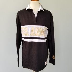 VS PINK M US ARMY Rugby Shirt LOGO Army M
